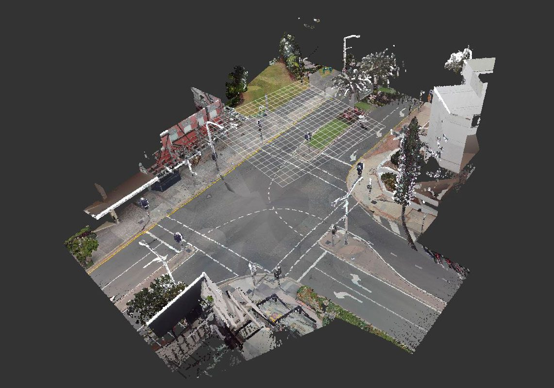 Scanned Road Intersection