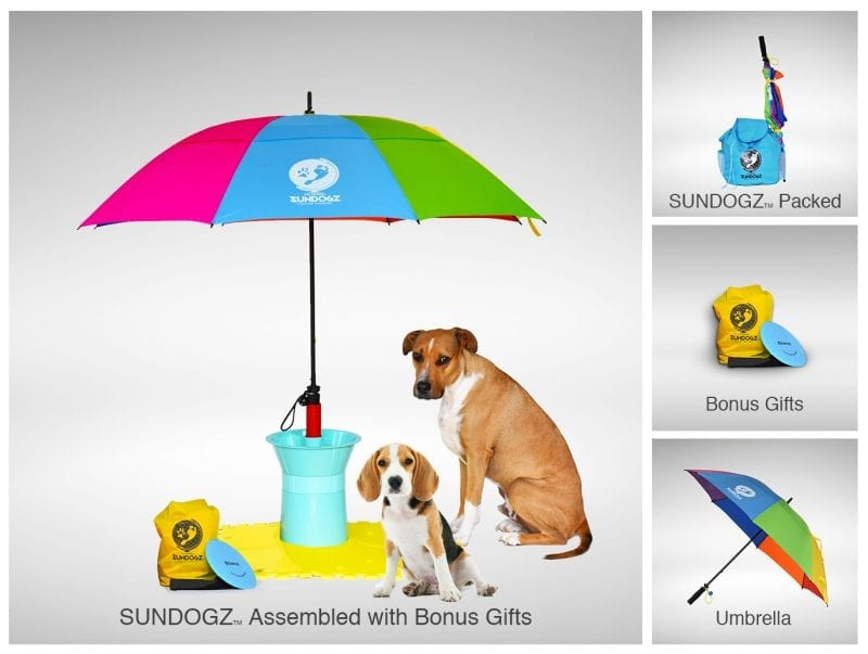 SUNDOGZ Ultimate Pack with Rainbow Umbrella